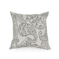 Morgan Modern Fabric Throw Pillow Cover (No Filling) (Set of 2), Gray and Natural