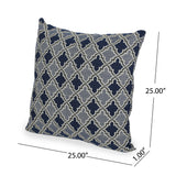 Olivia Modern Fabric Throw Pillow Cover (No Filling) (Set of 2), Light and Dark Blue
