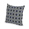 Dione Modern Fabric Throw Pillow Cover (No Filling), Light and Dark Blue