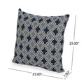 Kaylee Modern Fabric Throw Pillow, Light and Dark Blue