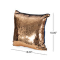 Jennifer Glam Square Reversible Sequin Pillow Cover