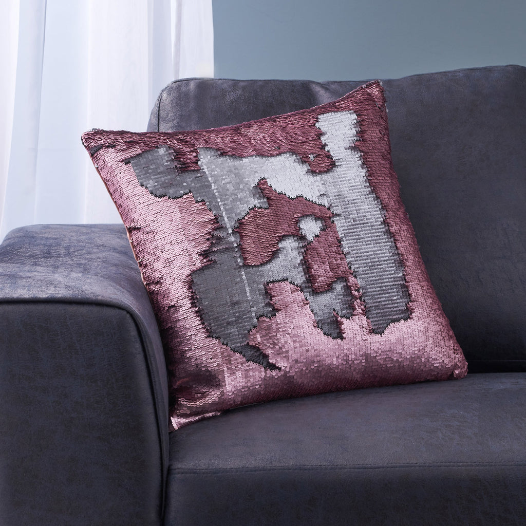 Jennifer Glam Square Reversible Sequin Throw Pillow