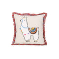 Dominic Modern Square Fabric Pillow Cover, Beige and Multicolor