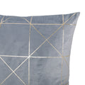 Irma Modern Square Fabric Pillow Cover, Light Gray
