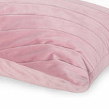 Joanna Modern Rectangular Fabric Pillow Cover, Pink
