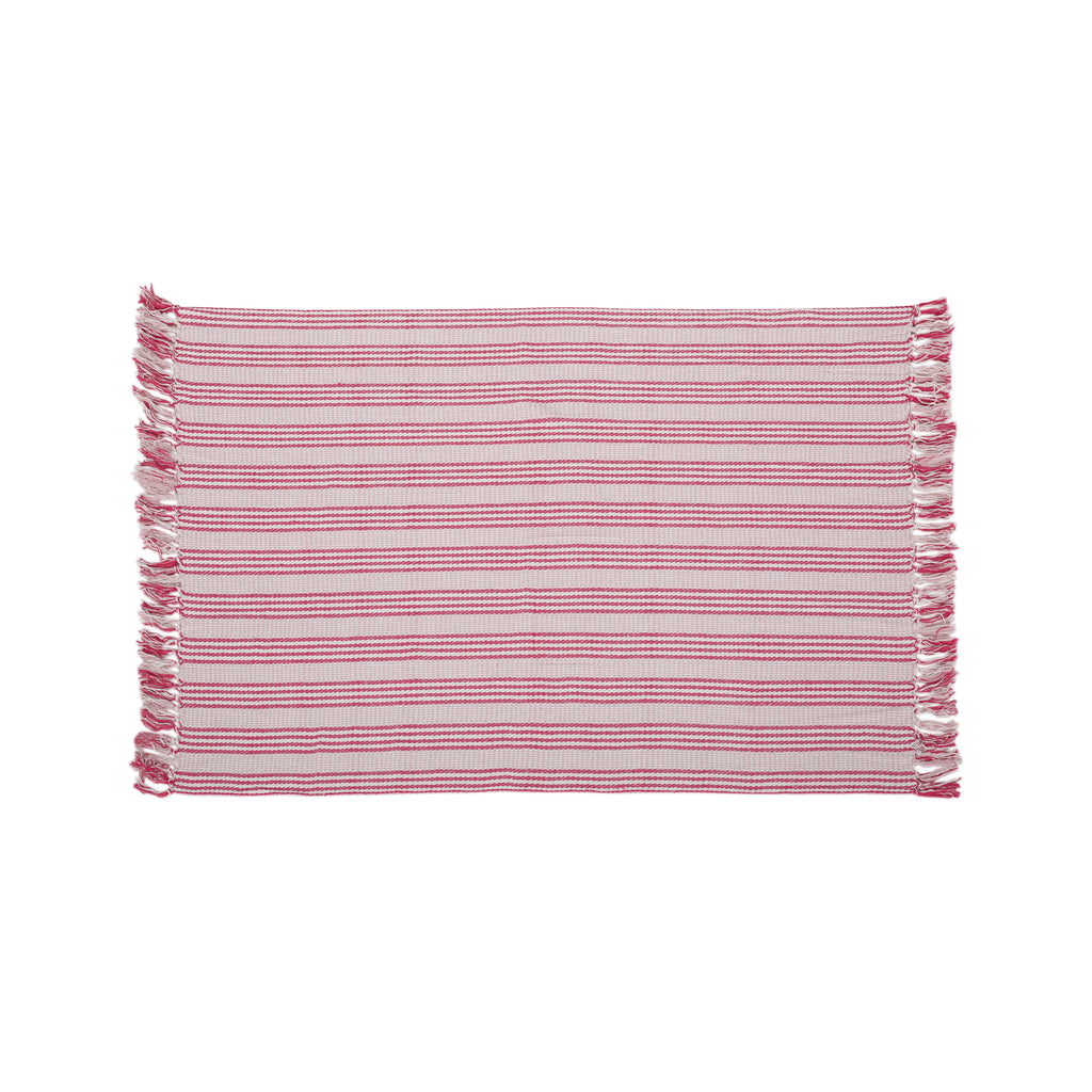 Fannie Fabric Throw Blanket, Pink and Ivory
