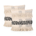 Stella Boho Cotton Throw Pillow