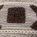 Sunny Boho Cotton Pillow Cover, Natural and Brown