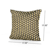 Cindy Boho Cotton Pillow Cover (Set of 2), Black and White
