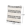Connie Boho Cotton Pillow Cover (Set of 2), Black and White