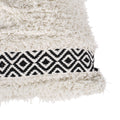 Corrine Boho Cotton Throw Pillow (Set of 2), Black and White