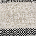 Cora Boho Cotton Pillow Cover, Black and White