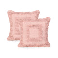 Debra Boho Cotton Throw Pillow (Set of 2), Pink