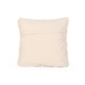 Debbie Boho Cotton Throw Pillow, White