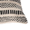 Edith Boho Cotton Throw Pillow (Set of 2), Black and White