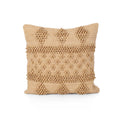 Eleanor Boho Cotton Chindi Pillow Cover, Beige