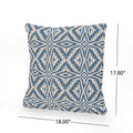 Ellen Boho Cotton Pillow Cover (Set of 2), Blue and White