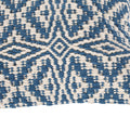Ellie Boho Cotton Throw Pillow (Set of 2), Blue and White