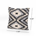 Esther Boho Cotton Throw Pillow (Set of 2), Black and White
