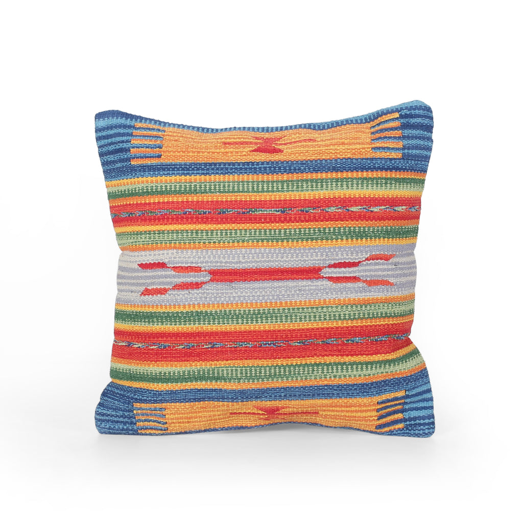 Eve Boho Cotton Throw Pillow, Multicolor