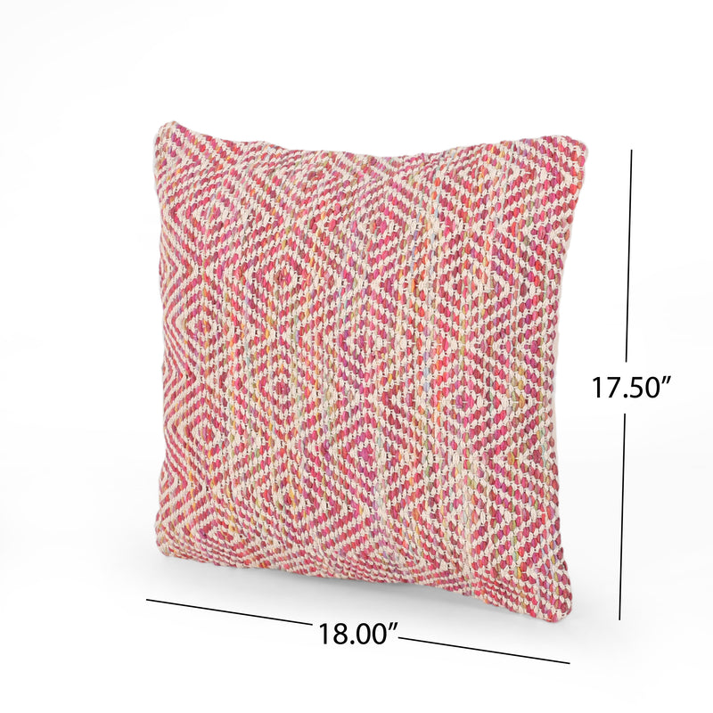 Fannie Boho Cotton Pillow Cover (Set of 2), Multicolor
