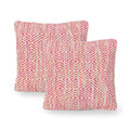 Fiona Boho Cotton Throw Pillow (Set of 2), Multicolor