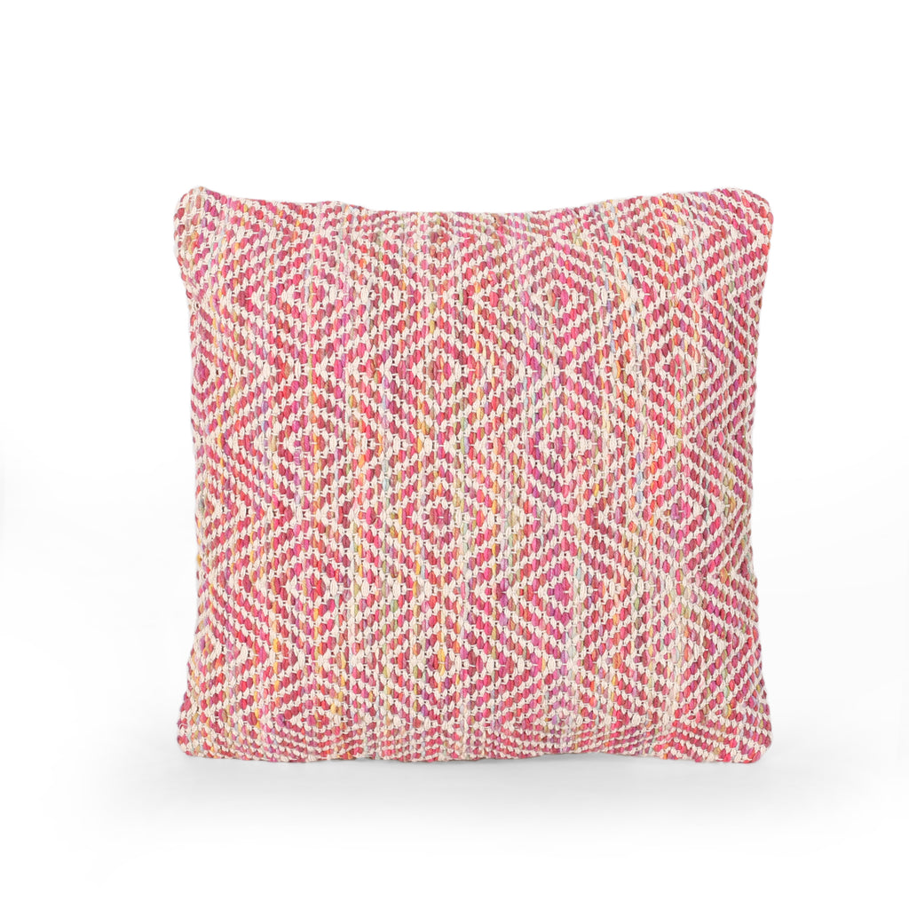 Fiona Boho Cotton Throw Pillow, Multicolor