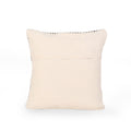 Gina Boho Cotton Throw Pillow (Set of 2), Gray and White