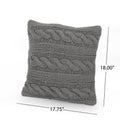 Bubles Boho Cotton Throw Pillow (Set of 2), Gray