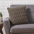 Selina Boho Cotton Throw Pillow, Gray