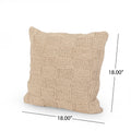 Greta Boho Cotton Pillow Cover, Sand