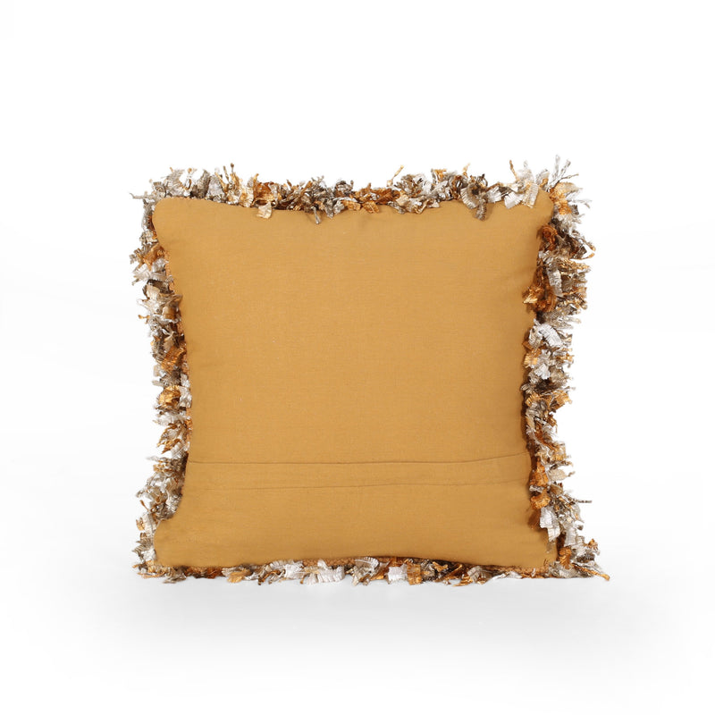 Vanessa Glam Fabric Throw Pillow