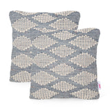 Catherine Boho Cotton and Wool Throw Pillow