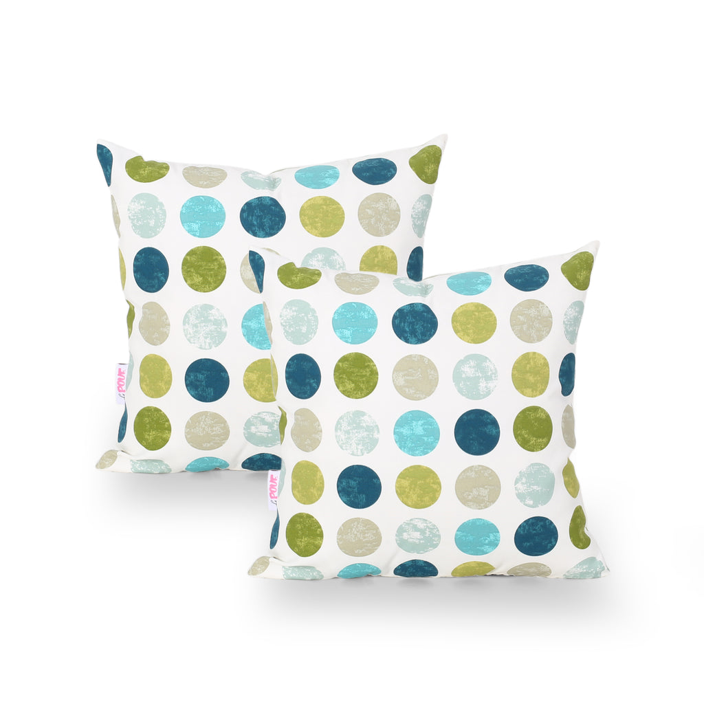 Carina Modern Throw Pillow Cover (Set of 2), Multicolor Circles
