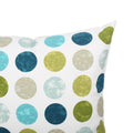 Emily Outdoor Modern Square Water Resistant Fabric Pillow (Set of 2), Multicolor Circles