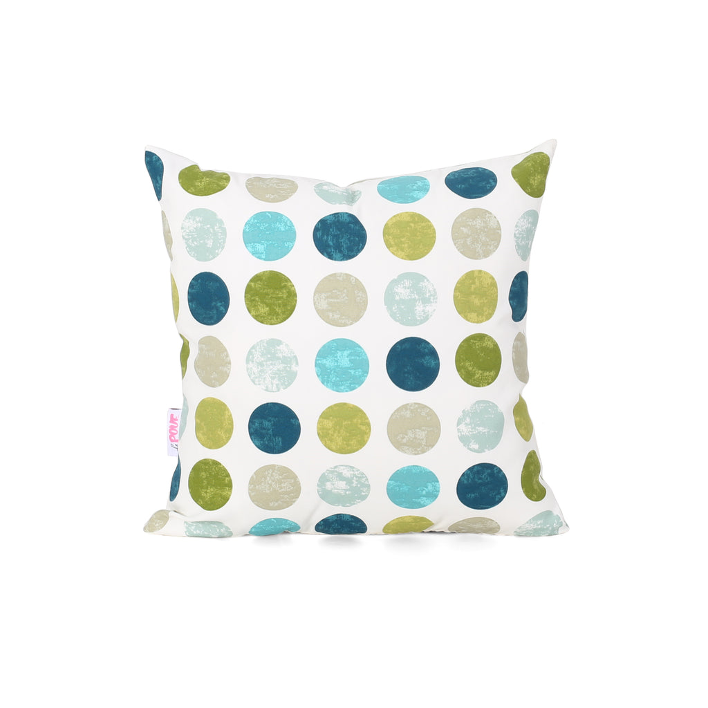 Carol Modern Throw Pillow, Multicolor Circles