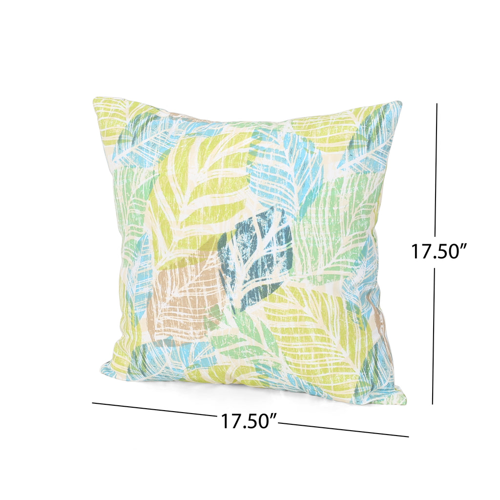 Amber Outdoor Modern Square Water Resistant Fabric Pillow Set Of 2 Le Pouf