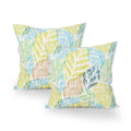 Carry Modern Throw Pillow (Set of 2), Multicolor Leaves