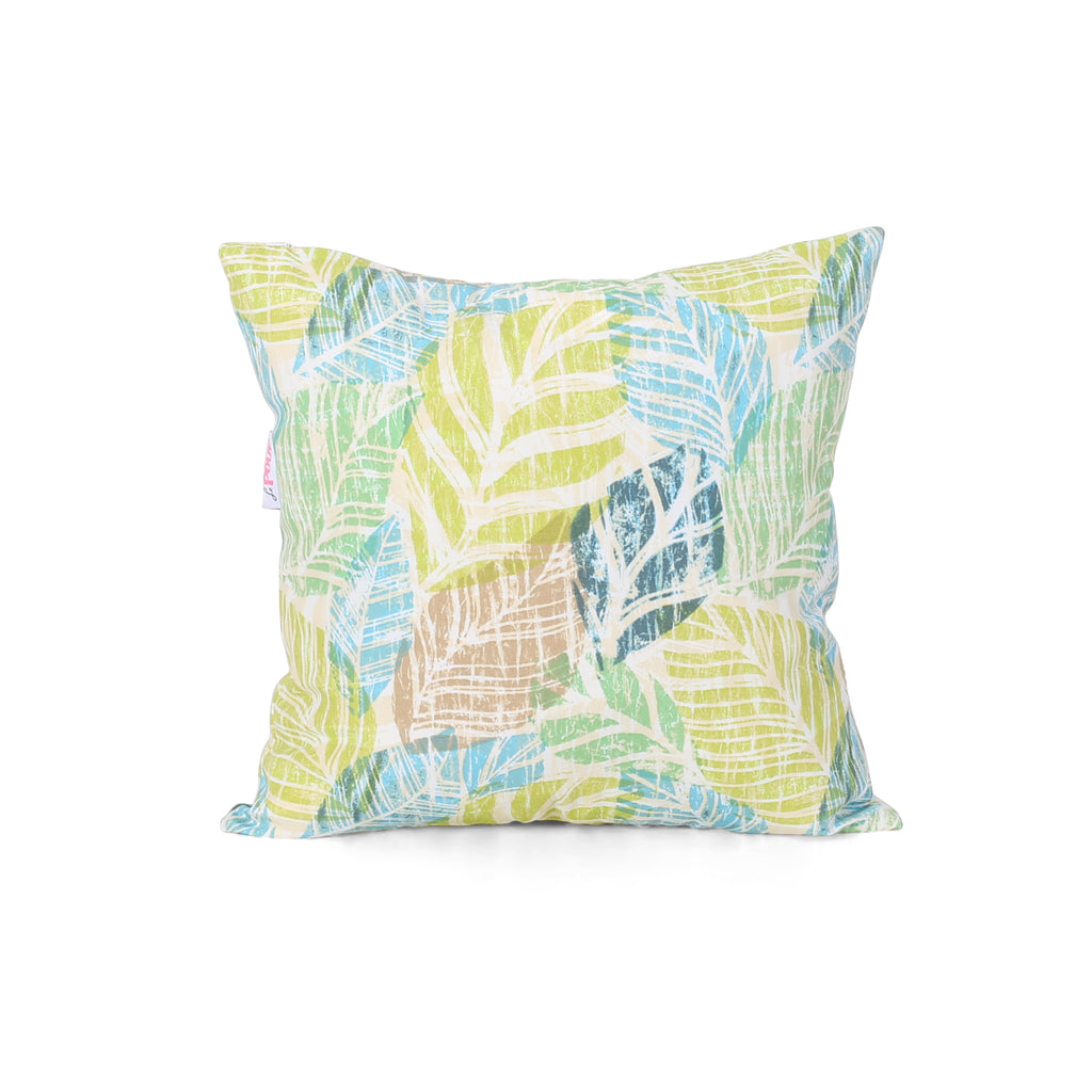 Caroline Modern Throw Pillow Cover, Multicolor Leaves