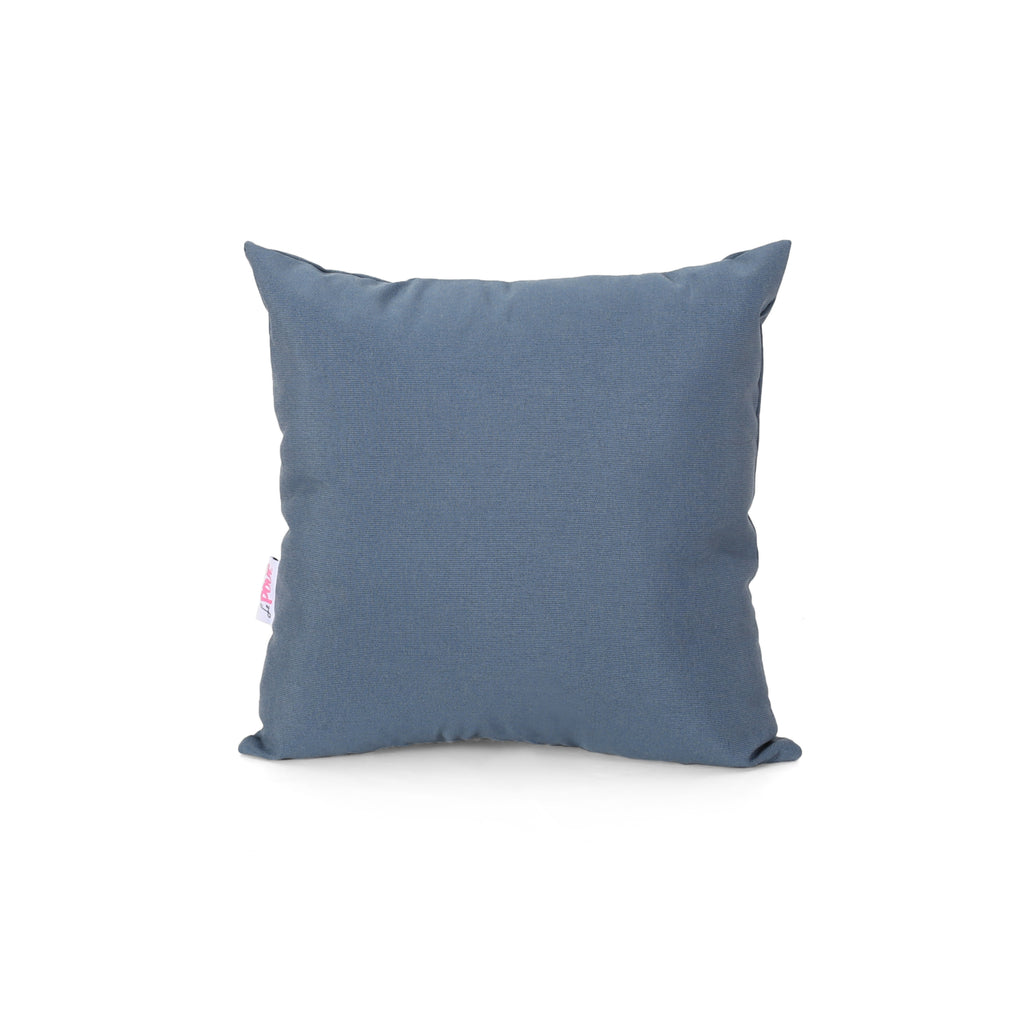 Carrie Modern Throw Pillow Cover, Dusty Blue
