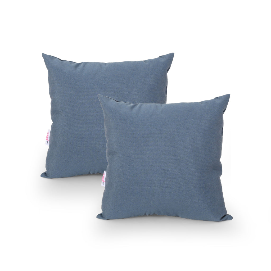 Carrie Modern Throw Pillow Cover (Set of 2), Dusty Blue