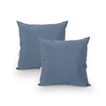 Anastasia Outdoor Modern Square Water Resistant Fabric Pillow (Set of 2), Dusty Blue