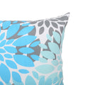 Cheryl Modern Throw Pillow, Teal, Gray, and White