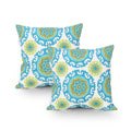 Christina Modern Throw Pillow (Set of 2), Multicolor Print