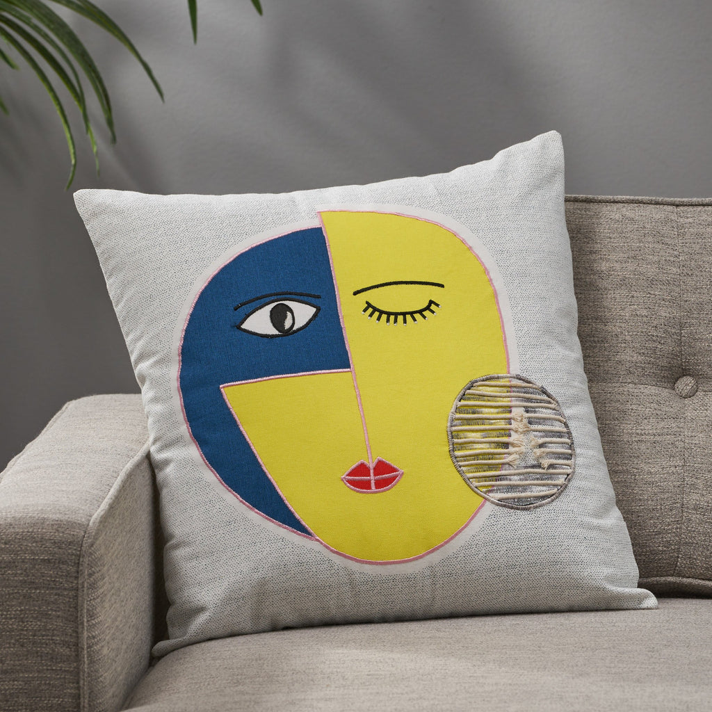 Kaysn Cotton Throw Pillow