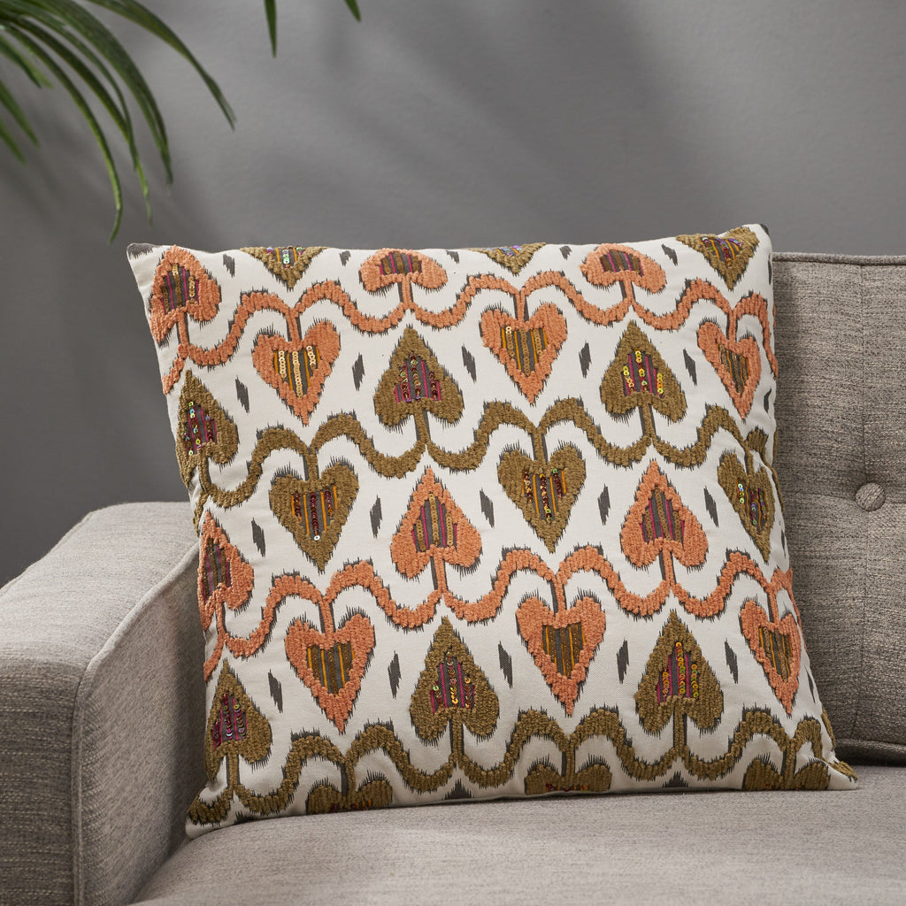 Maurice Boho Cotton Throw Pillow