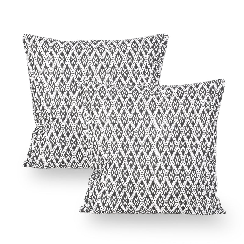 Ebin Modern Fabric Throw Pillow Cover (Set of 2)