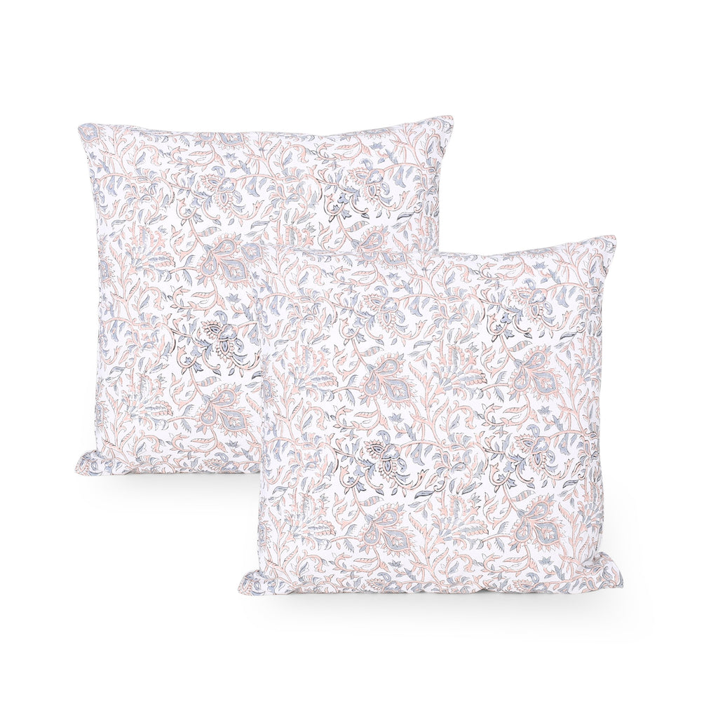 Keiko Modern Fabric Throw Pillow Cover (Set of 2)