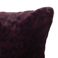 Jasmine Modern Throw Pillow (Set of 2), Purple and Black