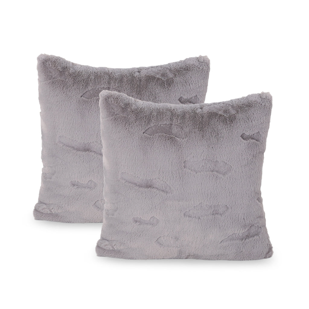 Annie Modern Throw Pillow Cover (Set of 2), Gray